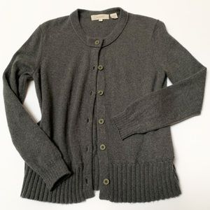 Inhabit heathered grey cashmere sweater